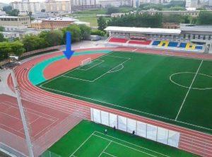 Место занятий на стадионе